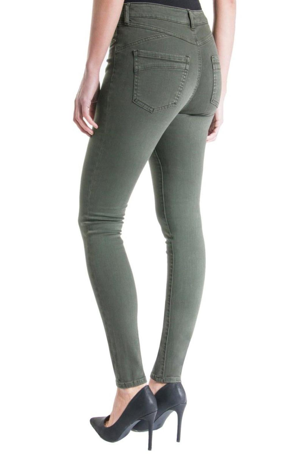 Liverpool Jeans Company Olive Twill Skinny - Front Full Image