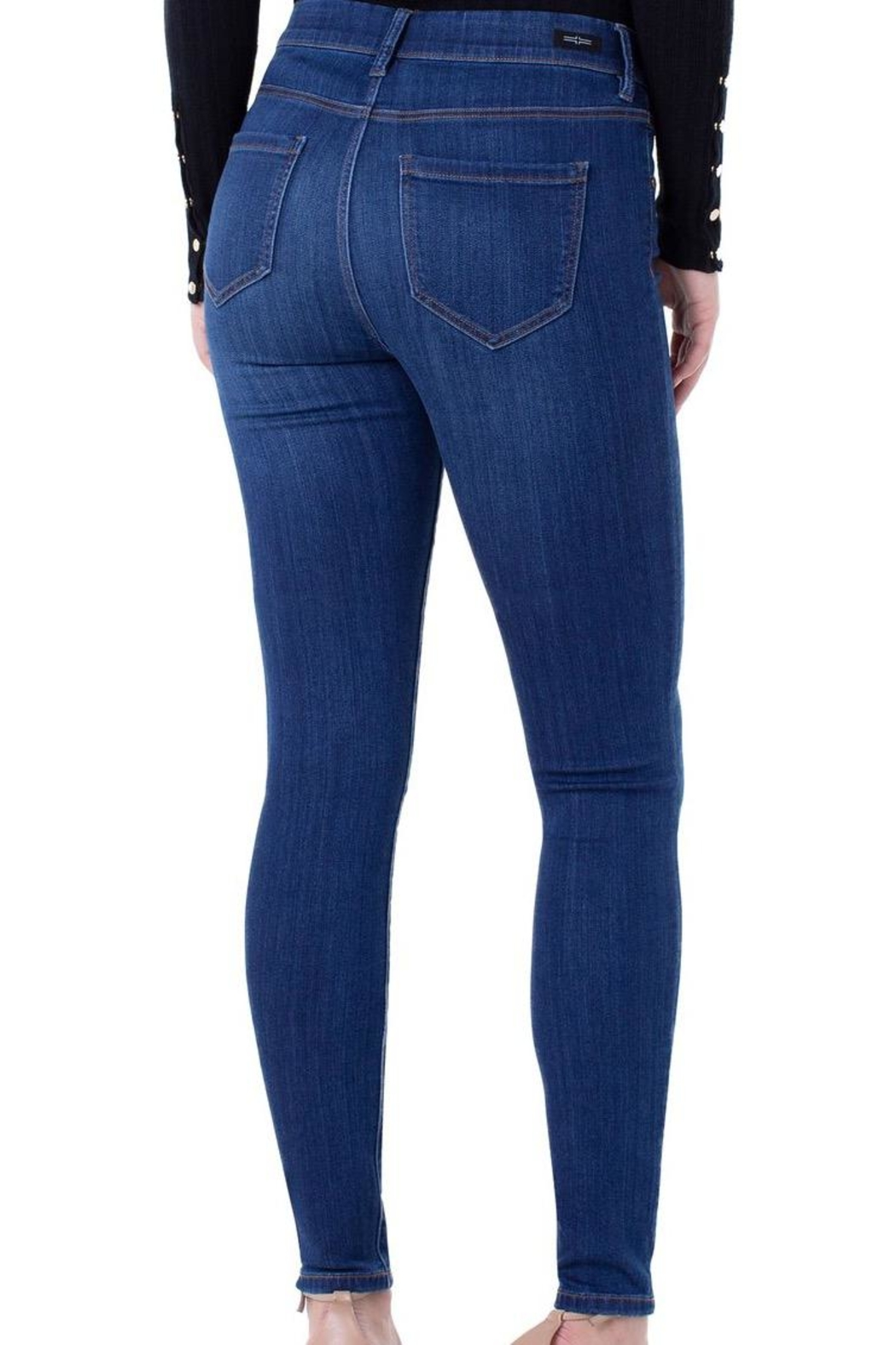 Liverpool Jeans Company Pull-On Denim Jeans - Front Full Image
