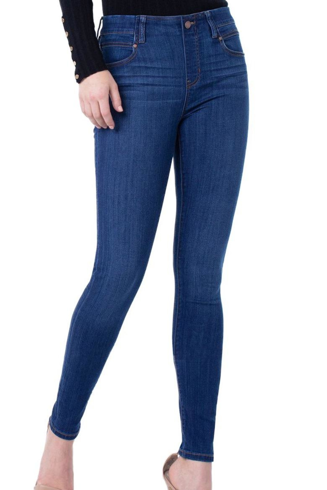 Liverpool Jeans Company Pull-On Denim Jeans - Side Cropped Image