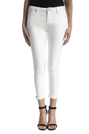 Liverpool Jeans Company White Crop Jeans - Product Mini Image