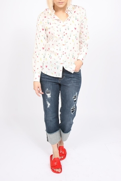 Liverpool Jeans Company Wide Cuff Crop - Product List Image