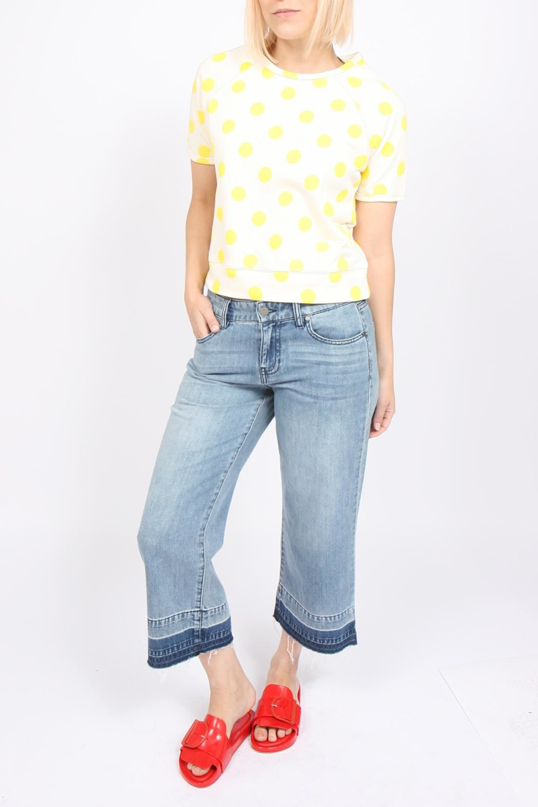 Liverpool Jeans Company Wide-Leg Cropped Jean - Main Image