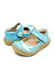 Livie & Luca Pio Pio Sky-Blue-Patent-Leather-Shoes - Front cropped