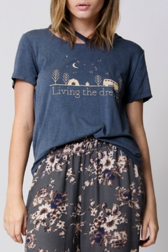 Wanderlux Living the Dream Distressed Tee - Product List Image