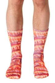 Living Royal Bacon Crew Socks - Product Mini Image
