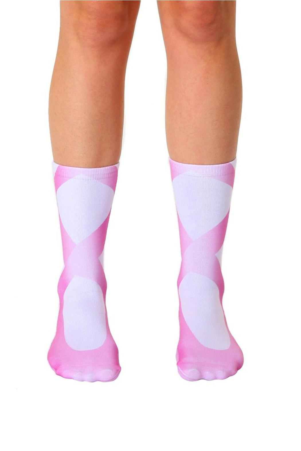 Living Royal Ballerina Crew Socks - Front Cropped Image