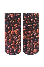 Living Royal Coffee Bean Socks - Front cropped