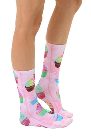 Living Royal Cupcake Crew Socks - Front full body