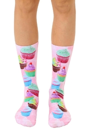 Living Royal Cupcake Crew Socks - Front cropped