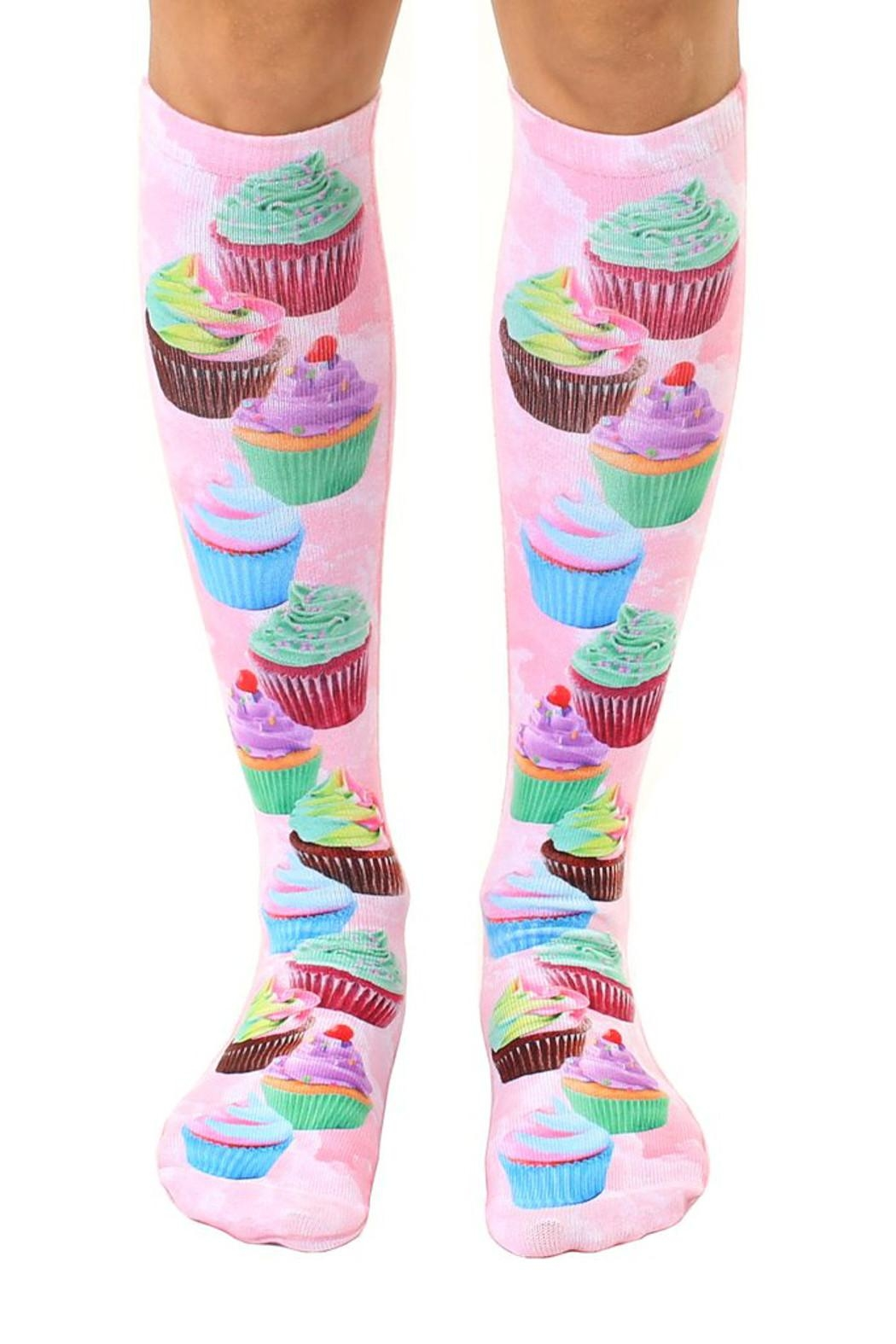Living Royal Cupcake Knee Highs - Front Cropped Image