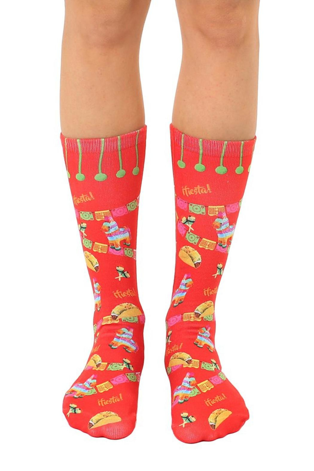 Living Royal Fiesta Crew Socks - Main Image