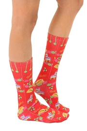 Living Royal Fiesta Crew Socks - Front full body