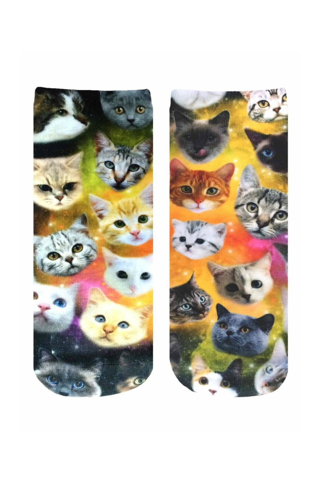 Living Royal Galaxy Kitty Socks - Front Cropped Image