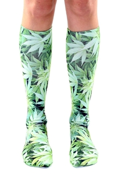 Shoptiques Product: Green Weed Socks