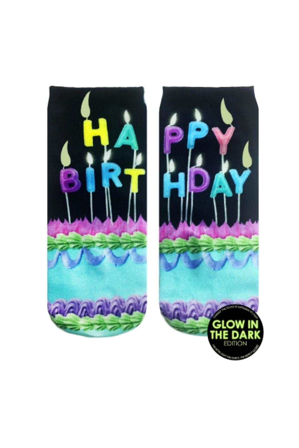 Living Royal Happy Birthday Socks - Front Cropped Image