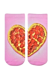 Living Royal Heart Pizza Socks - Front cropped