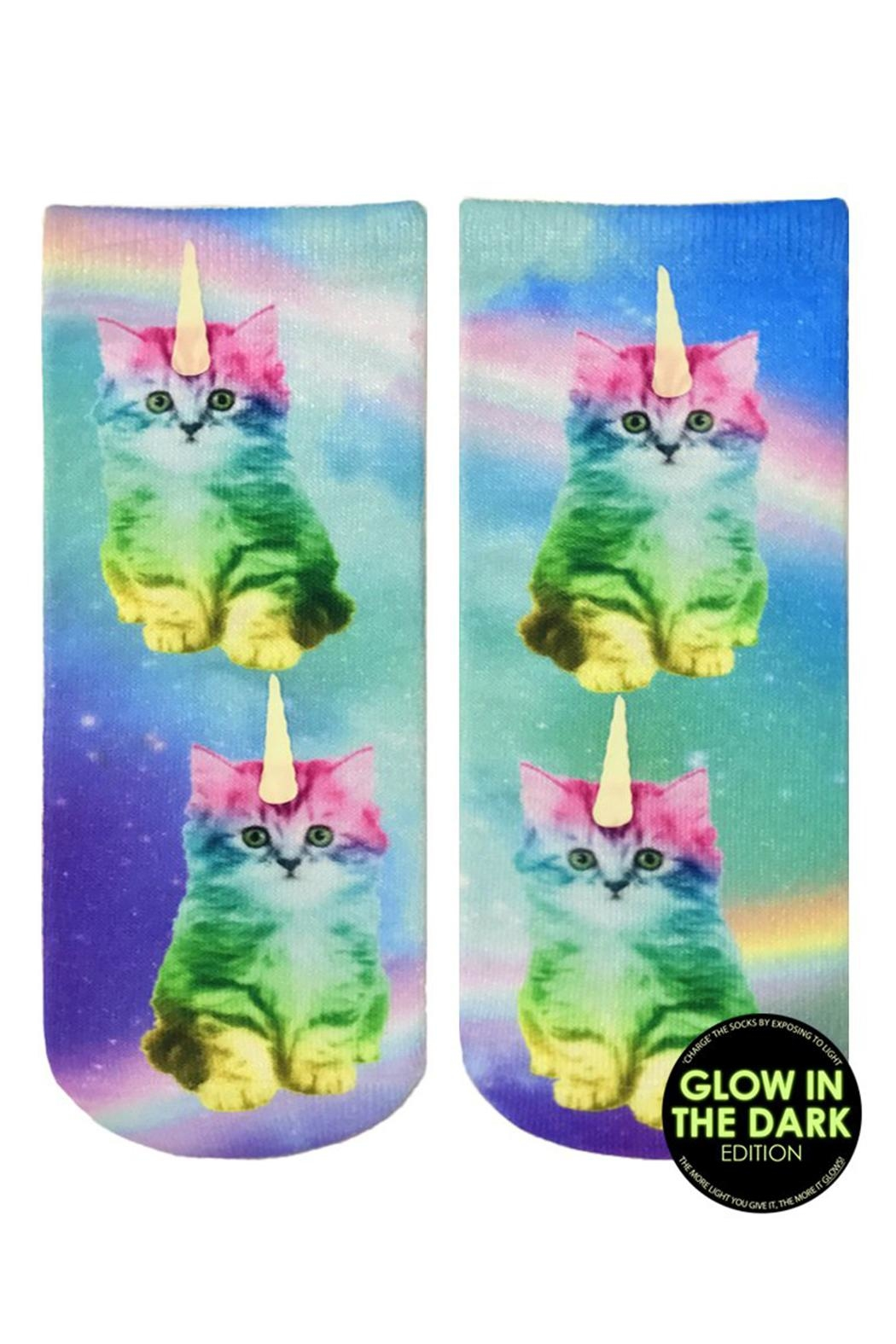 Living Royal Kitty Glow Socks - Front Cropped Image