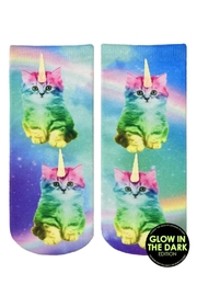 Living Royal Kitty Glow Socks - Front cropped
