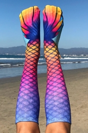 Living Royal Mermaid Rainbow Socks - Side cropped
