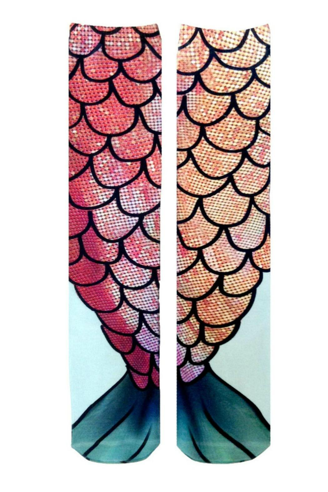 Living Royal Mermaid Tail Socks - Side Cropped Image