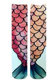 Living Royal Mermaid Tail Socks - Side cropped