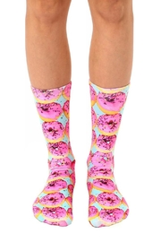 Living Royal Pink Donuts Socks - Product Mini Image