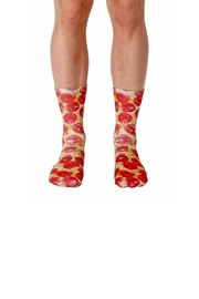 Living Royal Pizza Crew Socks - Product Mini Image