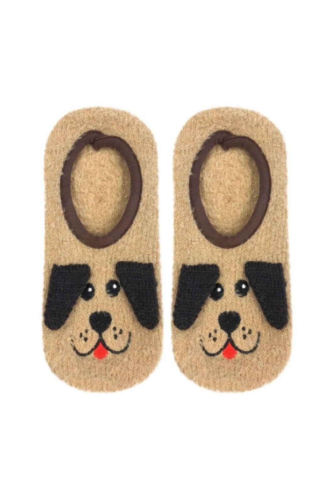 Living Royal Puppy Fluffy Slippers - Main Image