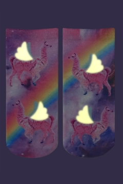 Living Royal Rainbow Lama Socks - Alternate List Image