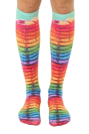 Living Royal Rainbow Kneehigh Socks - Product Mini Image