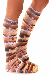 Living Royal Stacked Donuts Socks - Side cropped