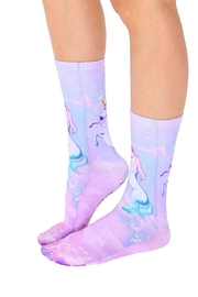 Living Royal Unicorn Dreams Socks - Front cropped