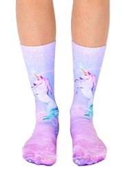 Living Royal Unicorn Dreams Socks - Front full body