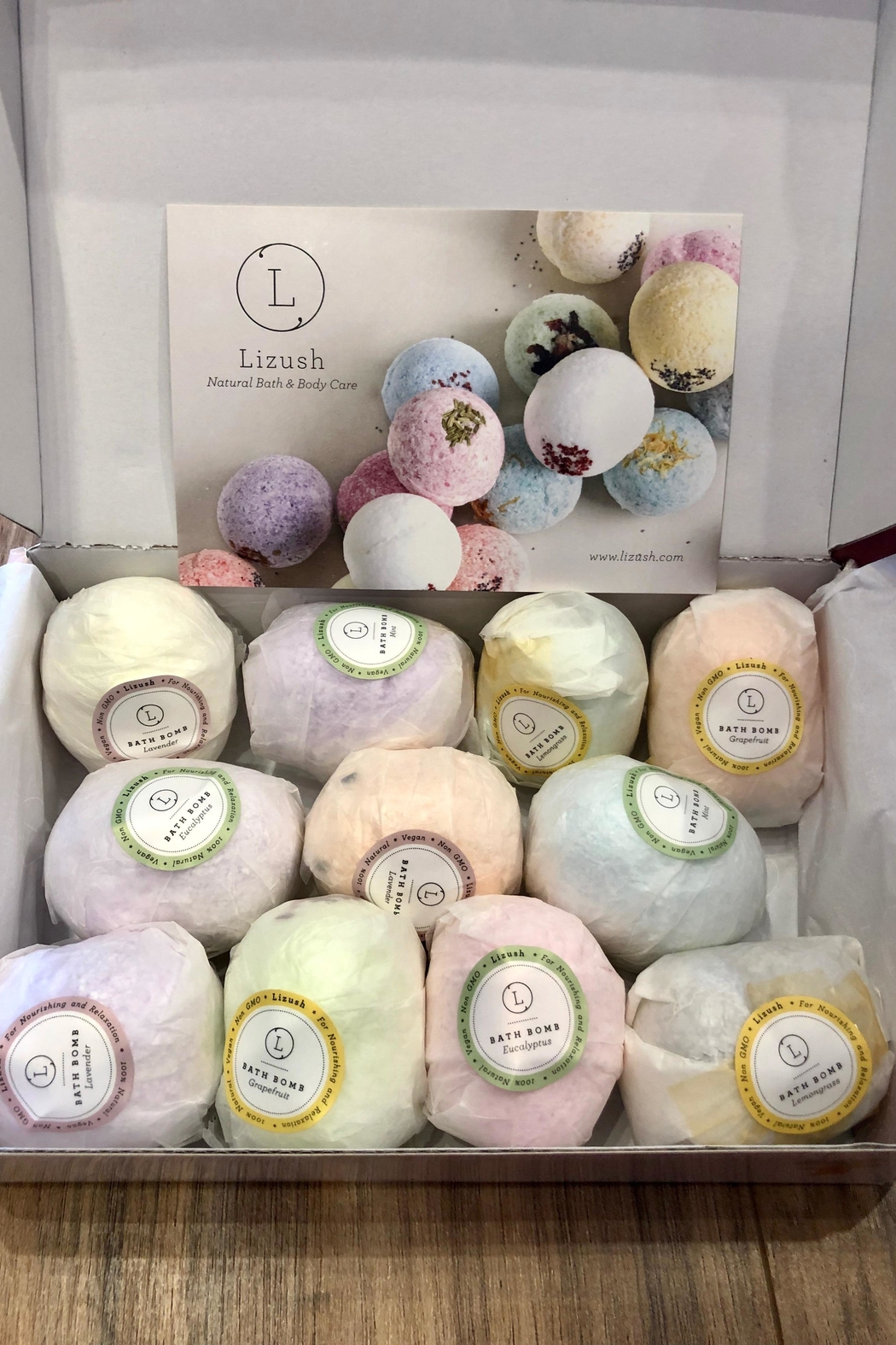 Liz Lush Natural Bath Bombs Gift Set - Front Cropped Image