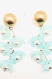 SHIVER + DUKE Liza Flower Dangle Earrings - Front full body