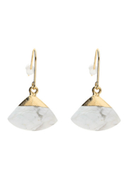 Liza's Jewelry  White Marble Dangle Earring - Product Mini Image
