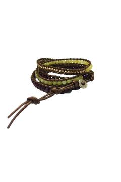 Shoptiques Product: Leather Beaded Wrap Bracelet