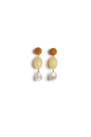 Lizzie Fortunato Golden Field Earrings - Front full body