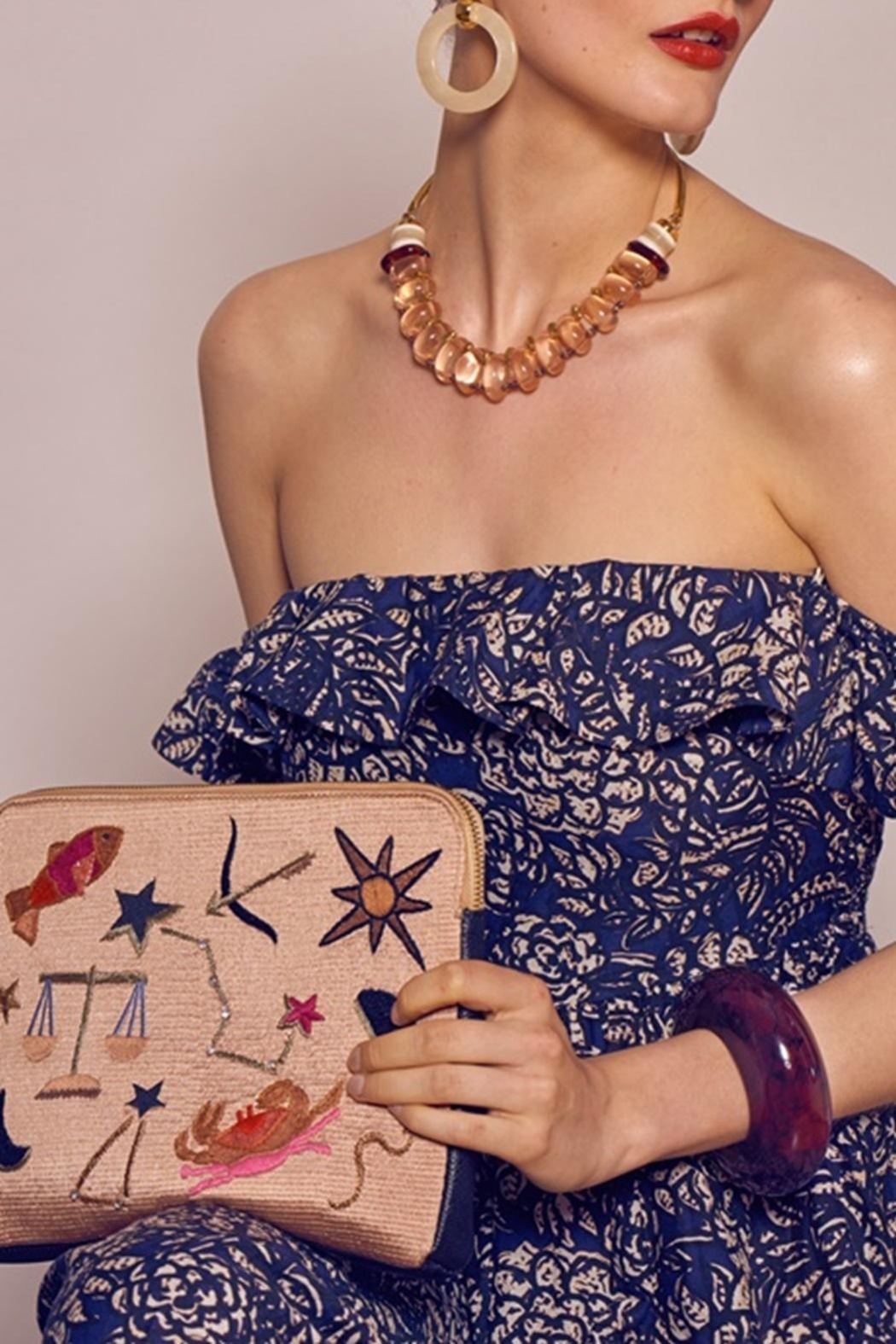 Lizzie Fortunato Horoscope Clutch - Front Full Image