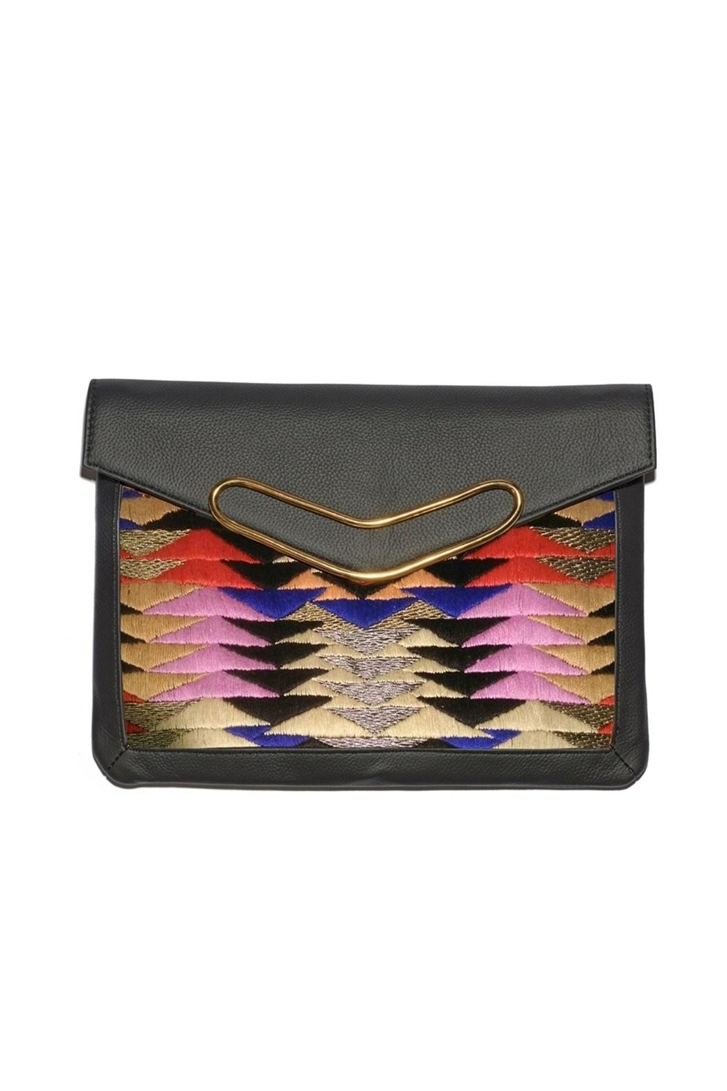 Lizzie Fortunato Midnight Cruiser Clutch - Front Cropped Image