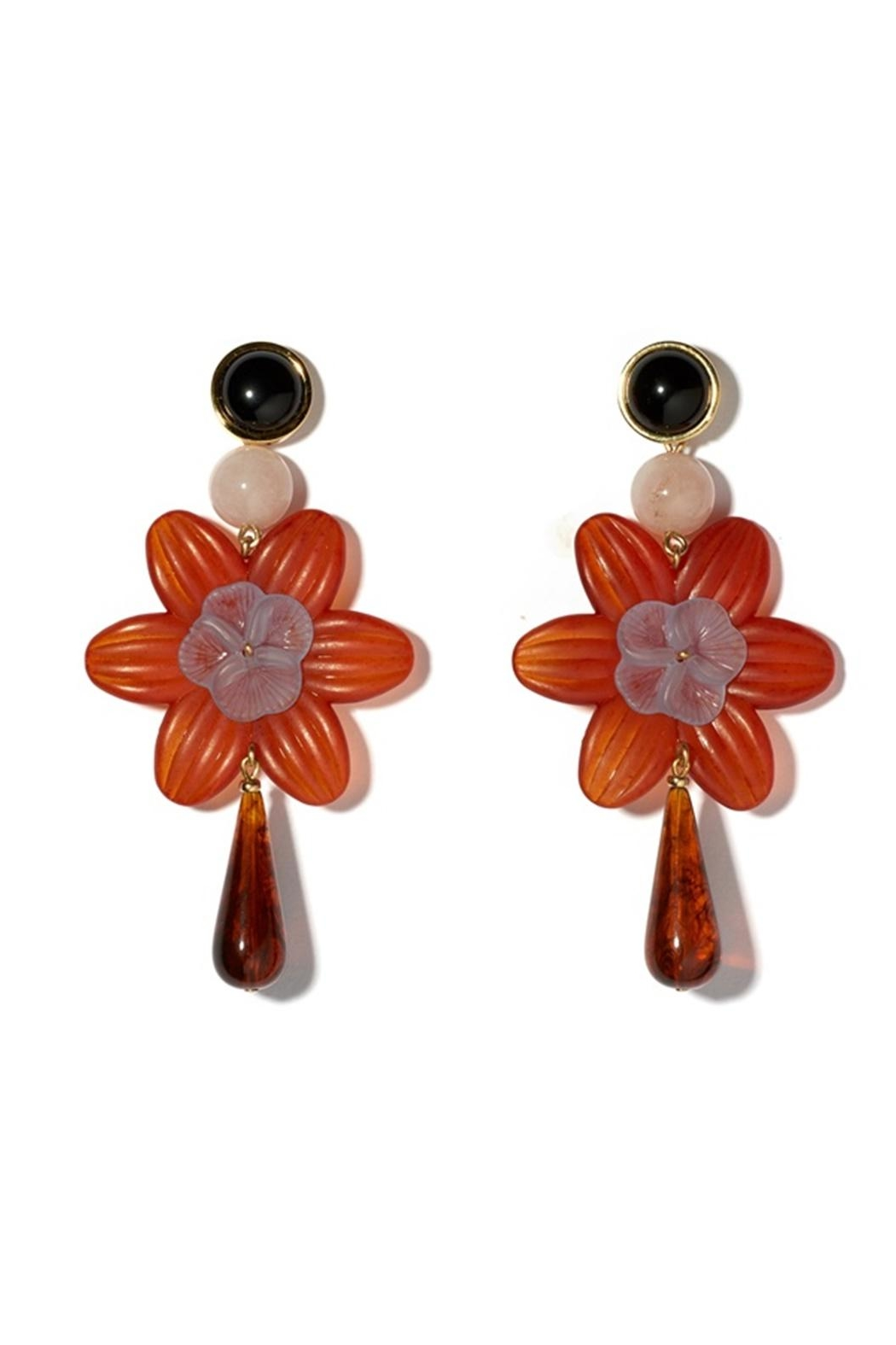 Lizzie Fortunato Sal Flower Earrings - Front Cropped Image