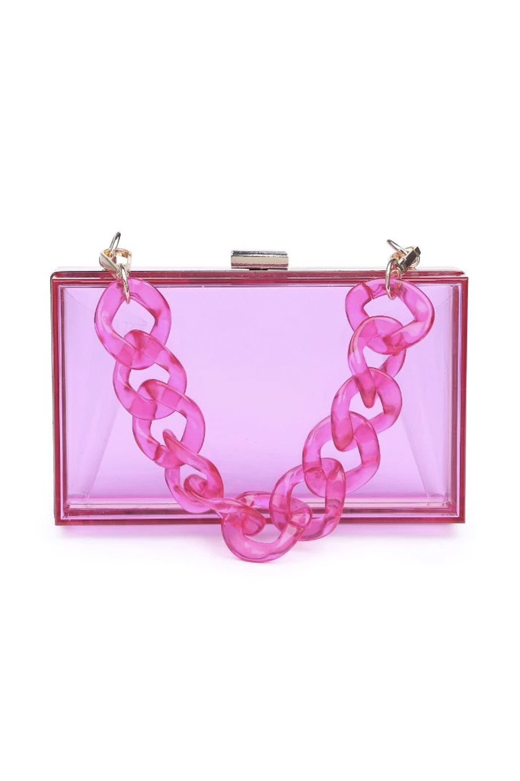 Urban Expressions Lizzo Clear Evening Bag - Side Cropped Image