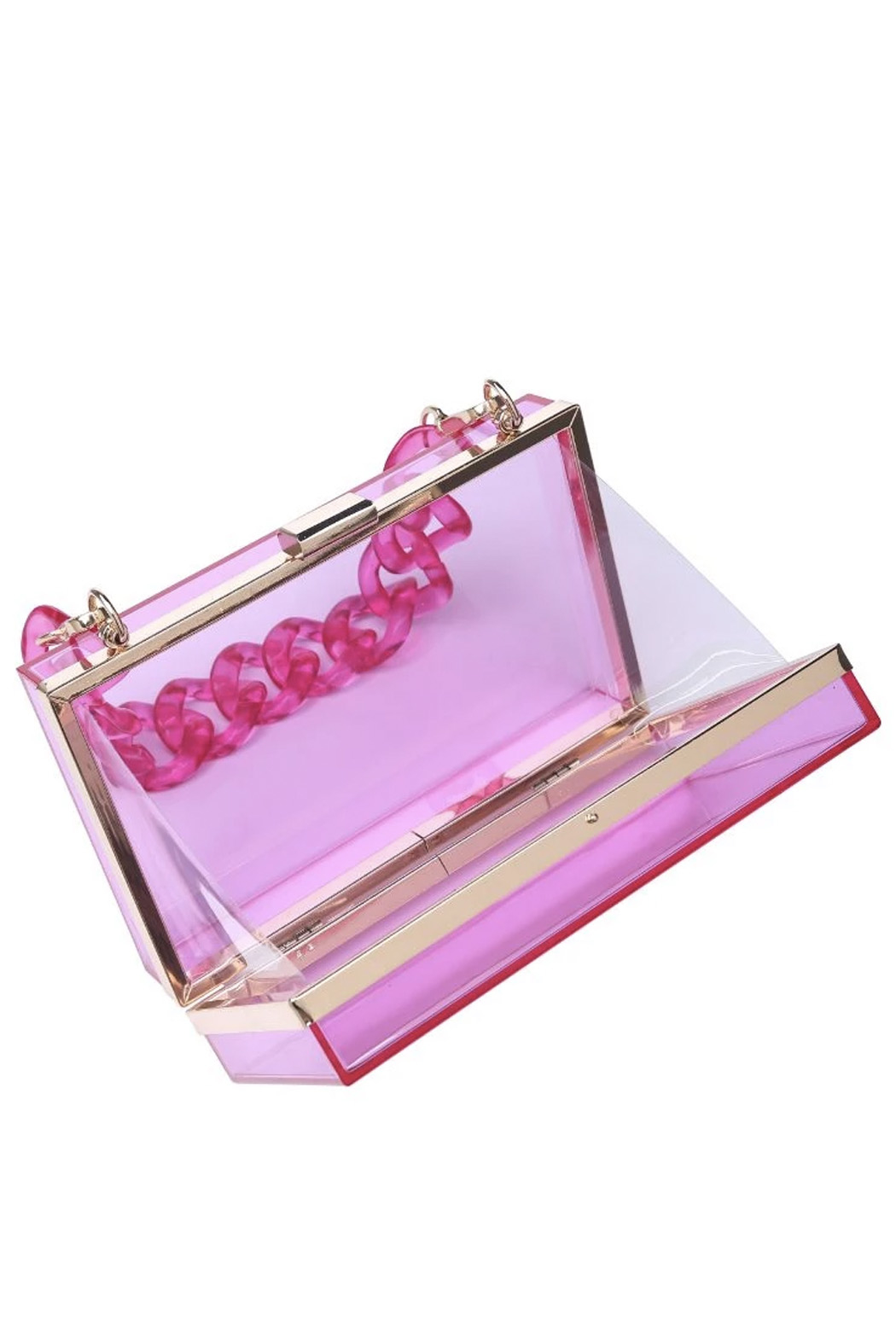 Urban Expressions Lizzo Clear Evening Bag - Front Full Image