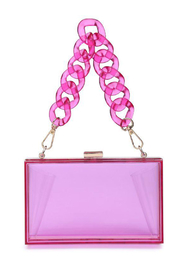 Urban Expressions Lizzo Clear Evening Bag - Front cropped