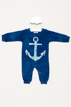 Shoptiques Product: Long Sleeve Anchor Romper