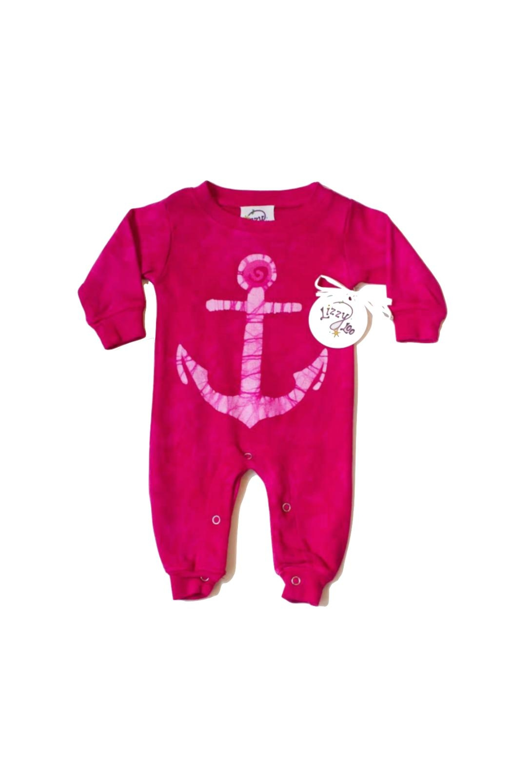 LizzyLoo Designs Pink Anchor Romper - Main Image