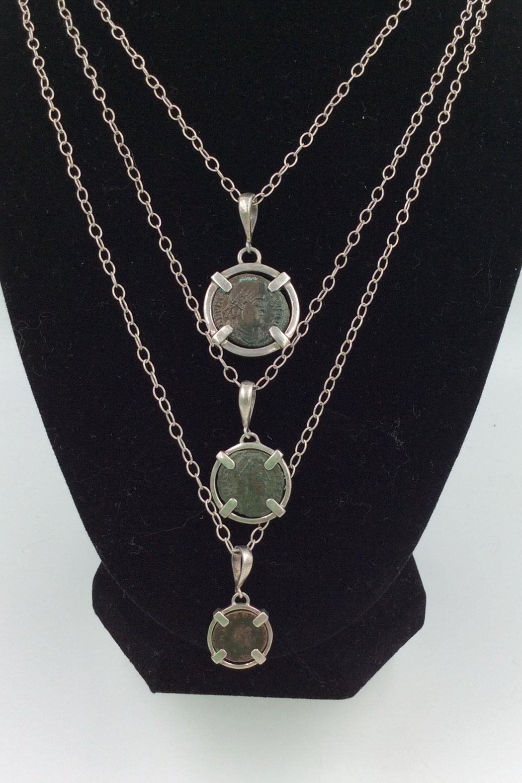LJ Jewelry Designs Ancient Coin Necklace - Front Full Image