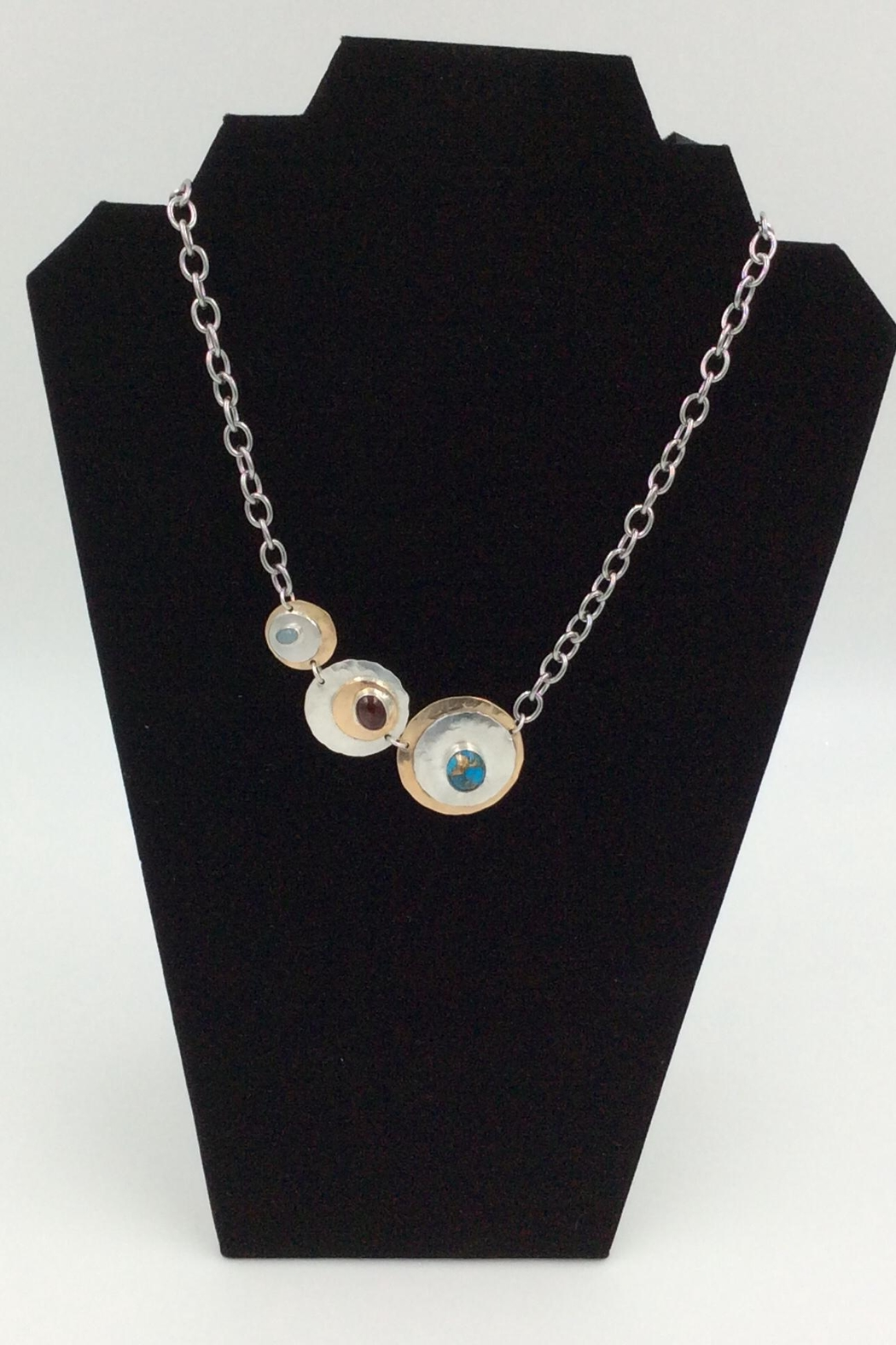LJ Jewelry Designs Assymetric Disc Necklace - Main Image