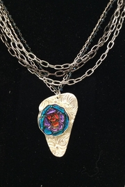 LJ Jewelry Designs Dichroic Glass Necklace - Front cropped