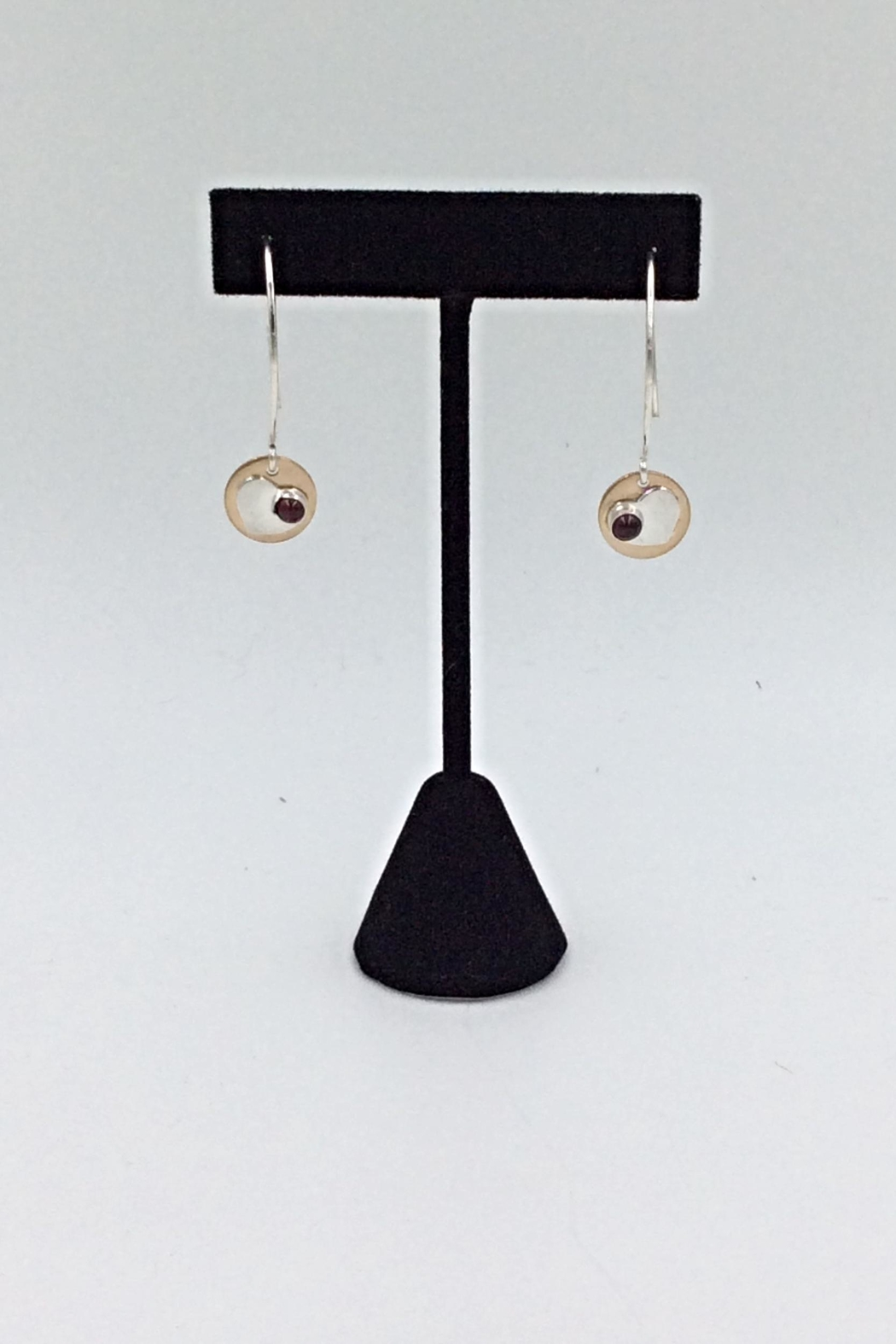 LJ Jewelry Designs Garnet Drop Earrings - Main Image
